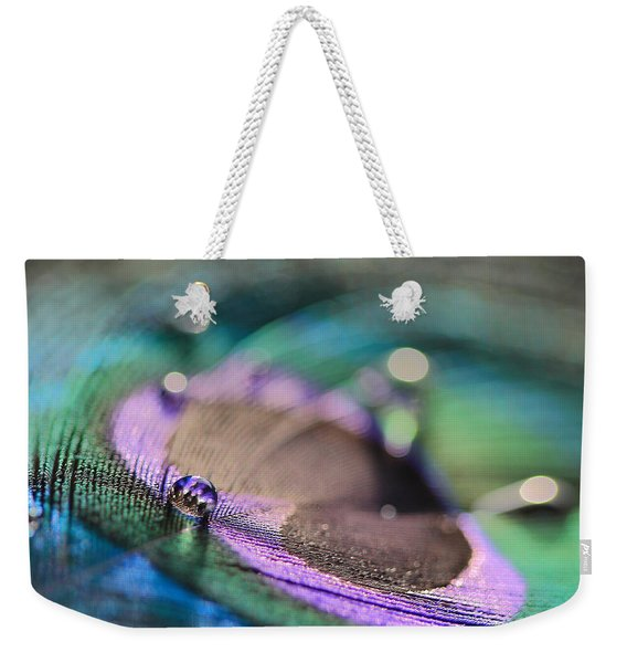 Colorful Water Droplet Weekender Tote Bag