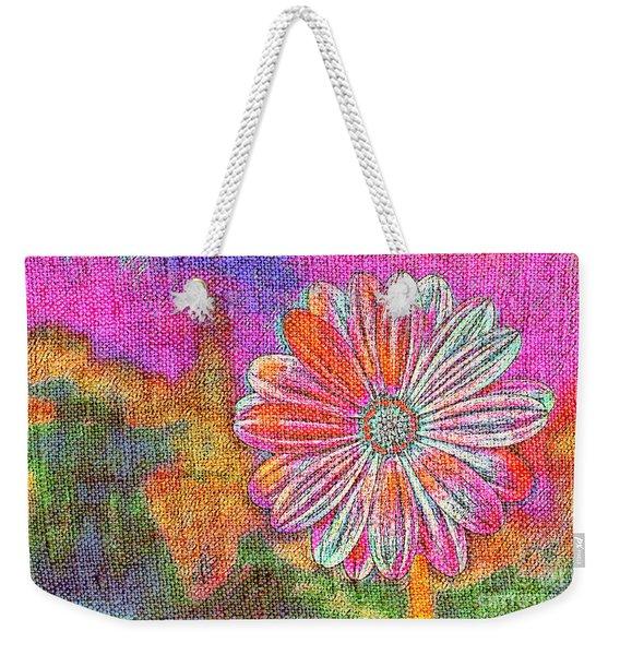 Colorful Watercolor Flower Weekender Tote Bag