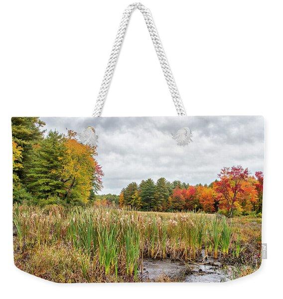Colorful Webster Bog Weekender Tote Bag