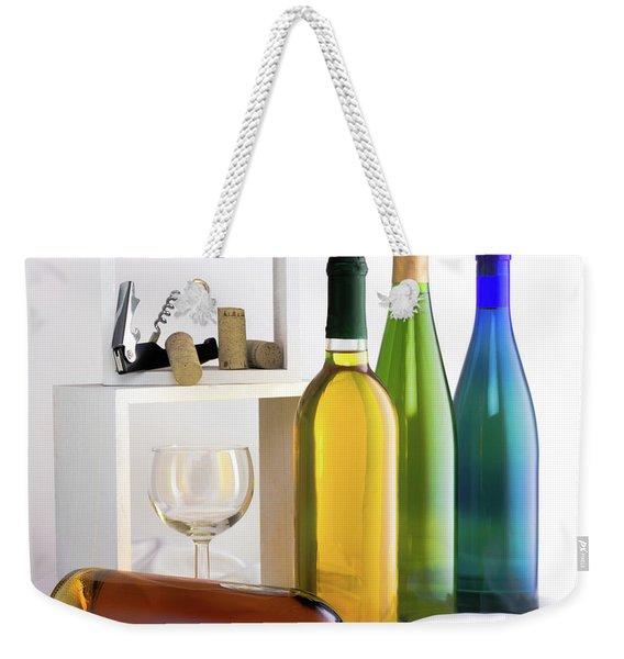 Colorful Wine Bottles Weekender Tote Bag