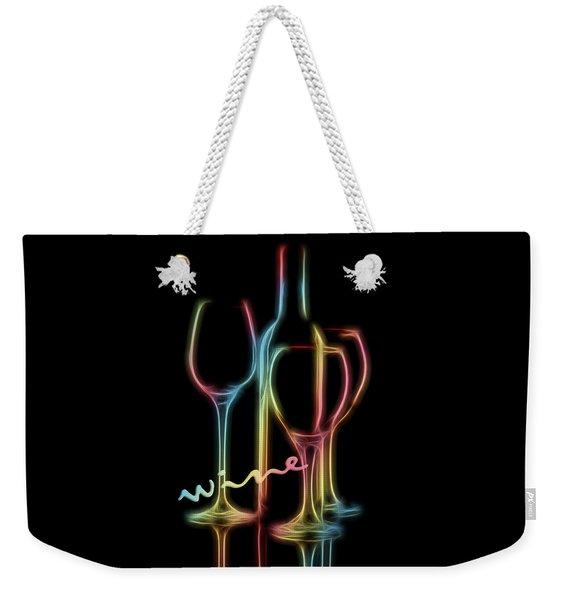 Colorful Wine Weekender Tote Bag