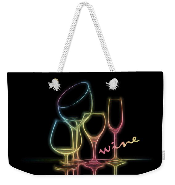 Colorful Wineglasses Weekender Tote Bag