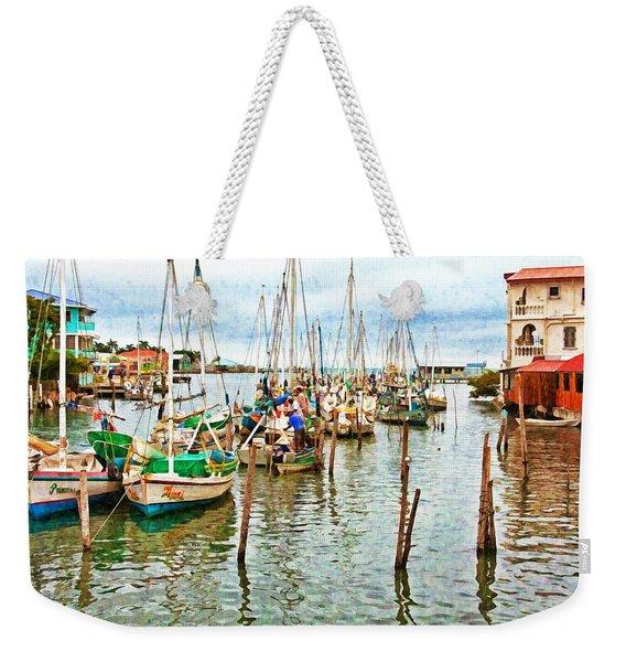 Colors Of Belize - Digital Paint Weekender Tote Bag