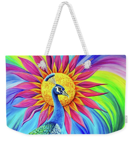 Weekender Tote Bag featuring the painting Colors Of His Splendor by Nancy Cupp