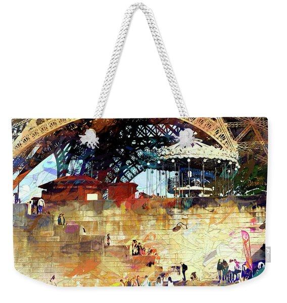 Colors Of Paris In The Summer Weekender Tote Bag