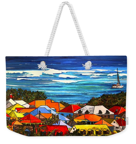 Colors Of St Martin Weekender Tote Bag