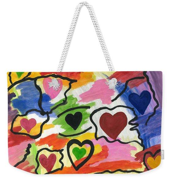 Colors Of The Heart Weekender Tote Bag