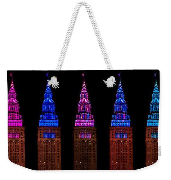 Colors Of The Terminal Tower Weekender Tote Bag