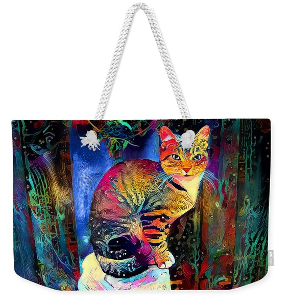 Colourful Calico Weekender Tote Bag