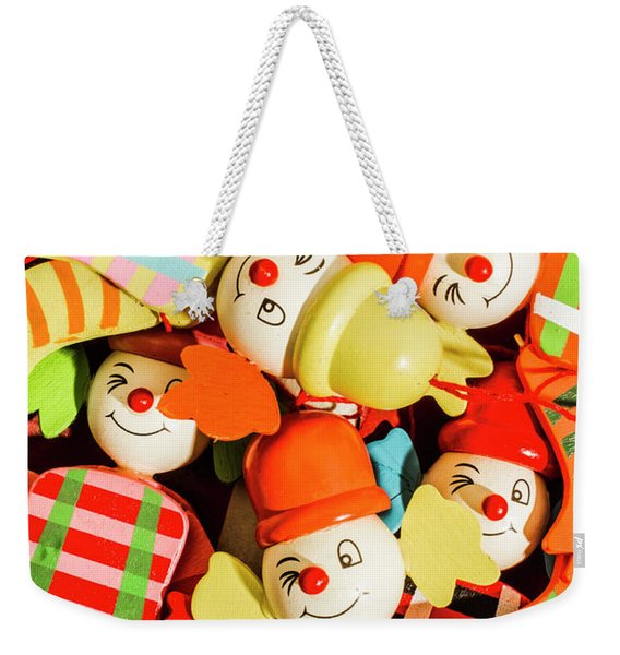 Colourful Character Clowns Weekender Tote Bag