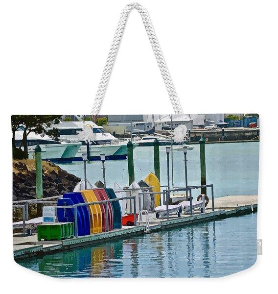 Colourful Dinghies Auckland Weekender Tote Bag