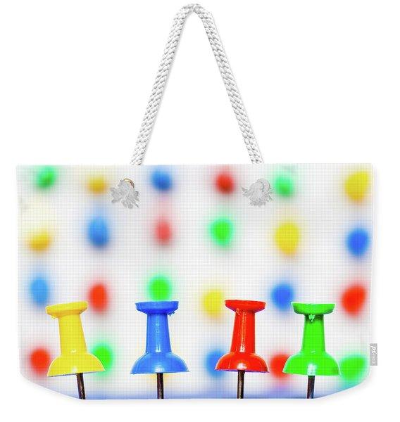 Colourful Pins. Weekender Tote Bag
