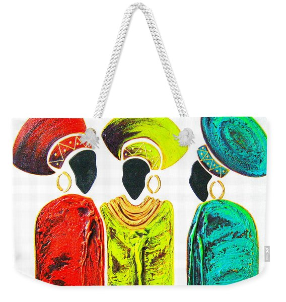 Colourful Trio - Original Artwork Weekender Tote Bag