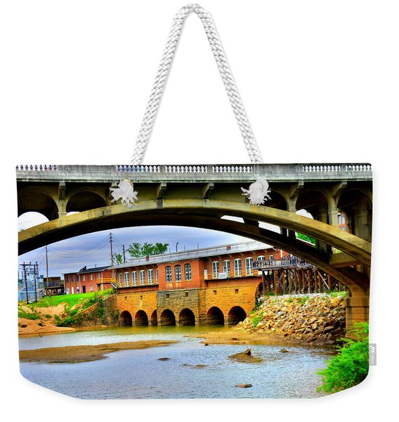 Columbia Canal At Gervais Street Bridge Weekender Tote Bag