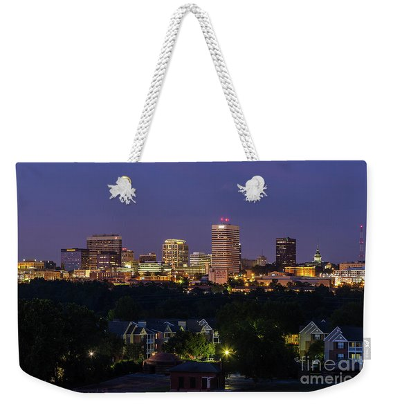 Columbia Skyline At Twilight Weekender Tote Bag
