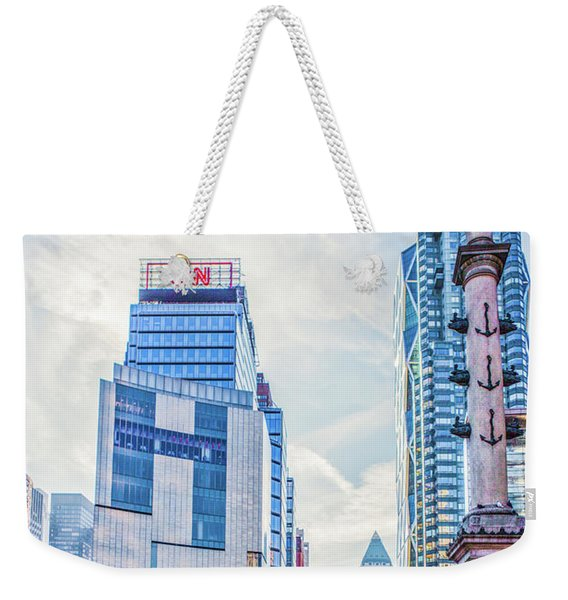Columbus Circle Weekender Tote Bag