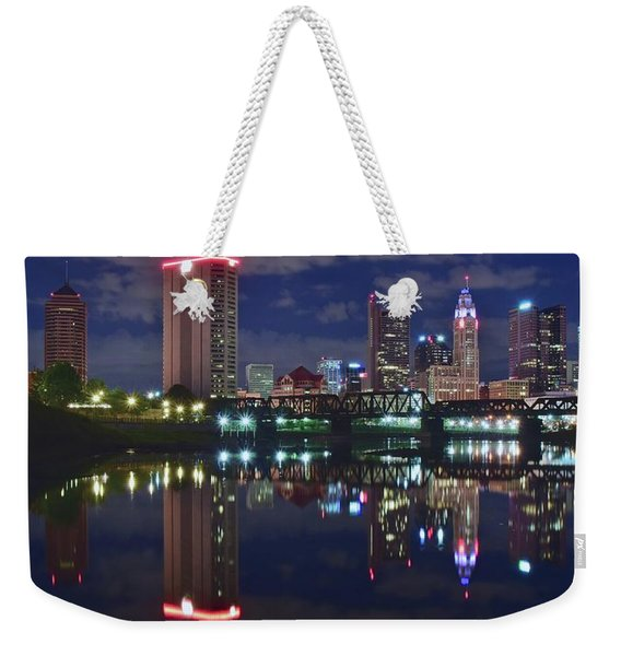 Columbus Ohio Panorama Over The Scioto Weekender Tote Bag