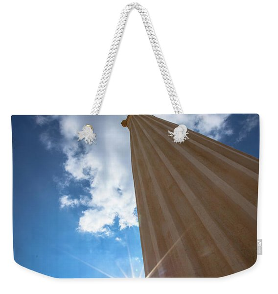 Column To Sky Weekender Tote Bag