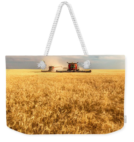 Combines Cutting Wheat Weekender Tote Bag