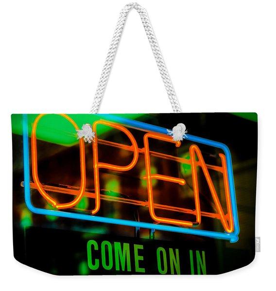 Come On In Weekender Tote Bag