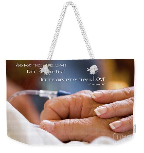 Comforting Hand Of Love Weekender Tote Bag