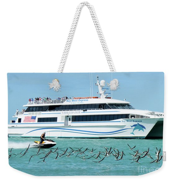 Weekender Tote Bag featuring the photograph Coming Into Port, Key West, Florida  -80237 by John Bald