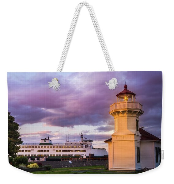 Coming Into Port - Mukilteo Lighthouse Weekender Tote Bag