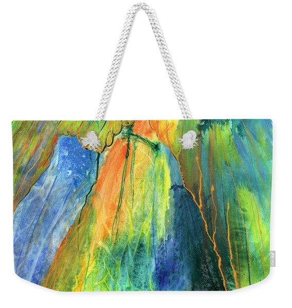 Weekender Tote Bag featuring the painting Coming Lord by Nancy Cupp