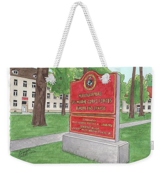 Commander Major General Russell A. Sanborn - Marforeuraf Weekender Tote Bag