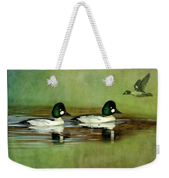 Common Golden-eye Drakes With Flyer Weekender Tote Bag