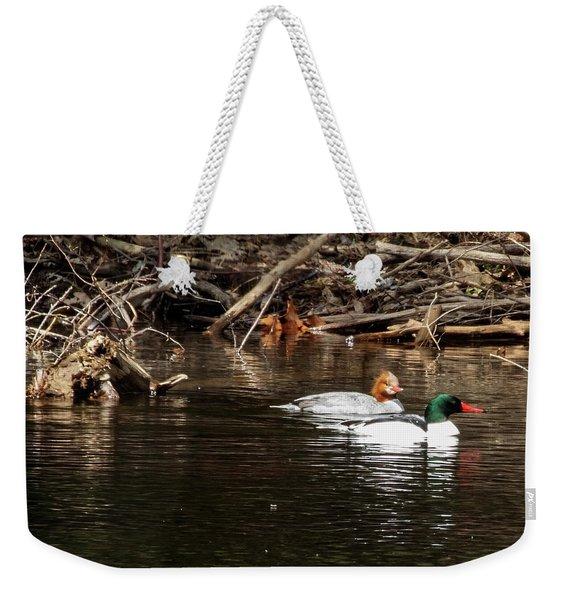 Common Mergansers Weekender Tote Bag