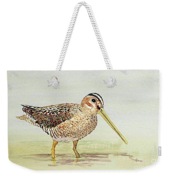 Common Snipe Wading Weekender Tote Bag