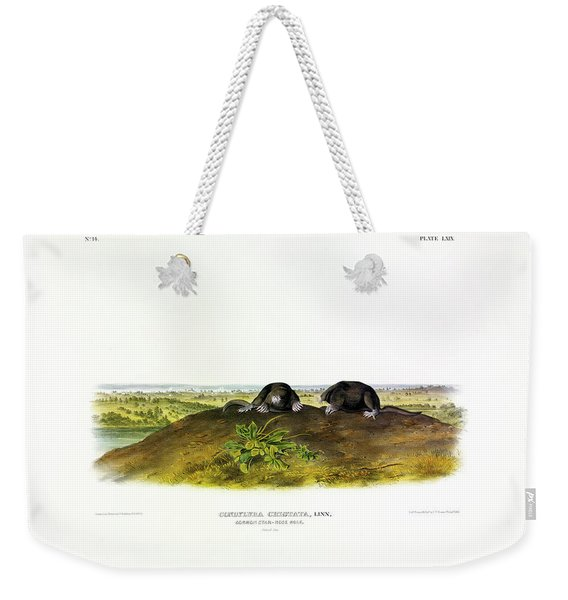 Common Star-nose Mole Weekender Tote Bag