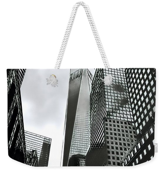 Commuters' View Of 1 World Trade Center Weekender Tote Bag