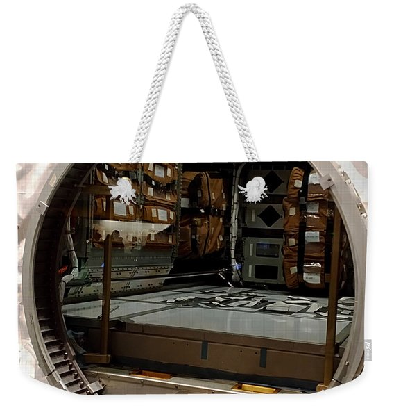 Compartment Weekender Tote Bag