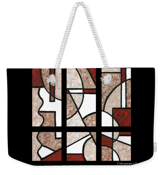 Compartments Six Panels Weekender Tote Bag