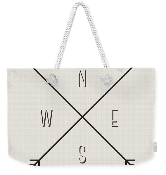 Compass Weekender Tote Bag
