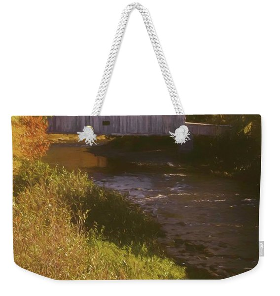 Comstock Covered Bridge Weekender Tote Bag
