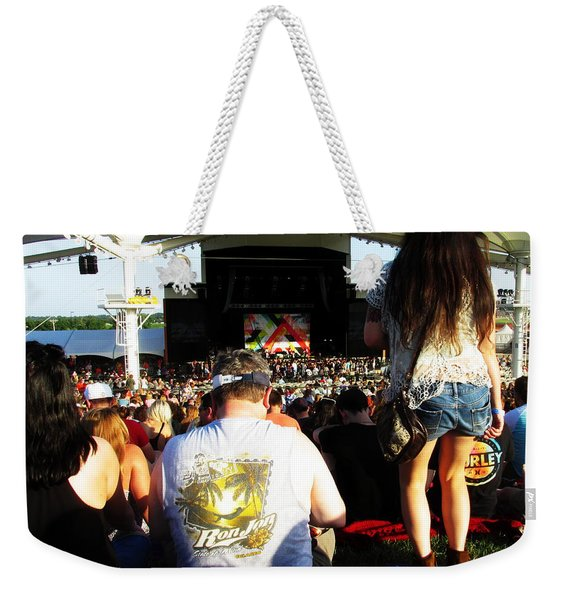 Concert Crowd Weekender Tote Bag