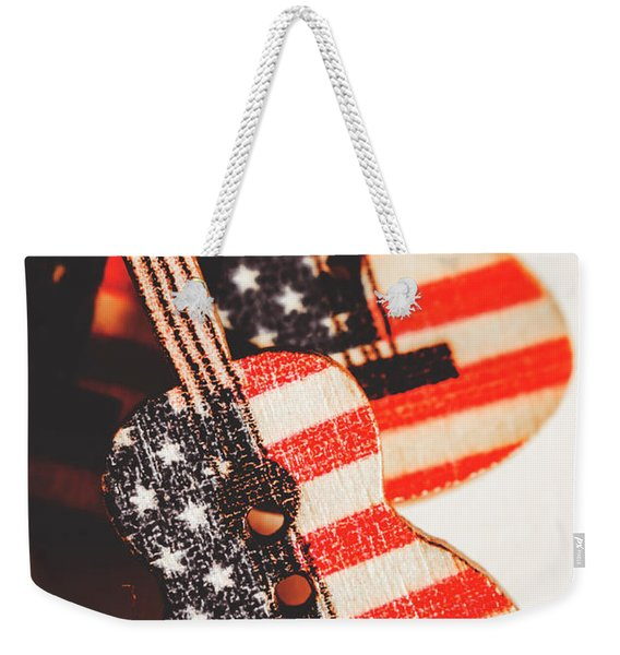 Concert Of Stars And Stripes Weekender Tote Bag