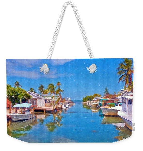 Conch Key Waterfront Living 3 Weekender Tote Bag