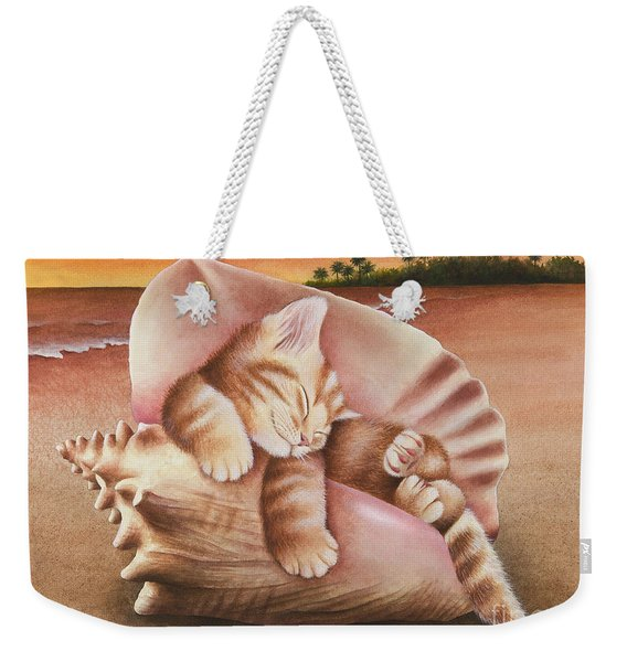 Conch Kitten Weekender Tote Bag
