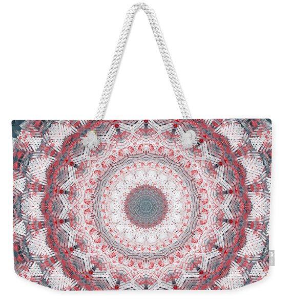 Concrete And Red Mandala- Abstract Art By Linda Woods Weekender Tote Bag