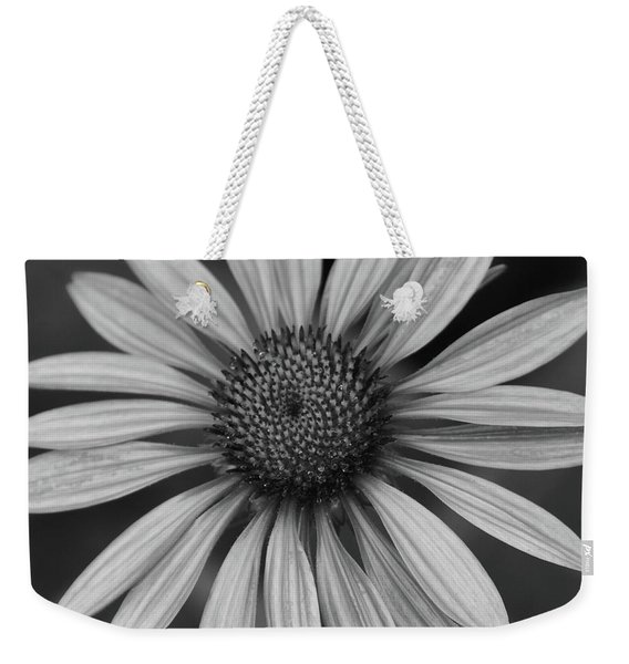 Coneflower In Black And White Weekender Tote Bag