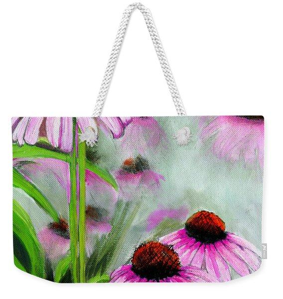 Coneflowers In The Mist Weekender Tote Bag