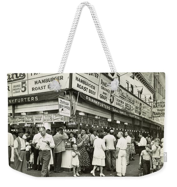 Coney Island Boardwalk Weekender Tote Bag