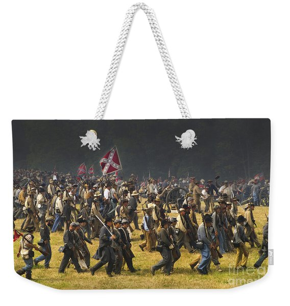 Confederate Charge At Gettysburg Weekender Tote Bag