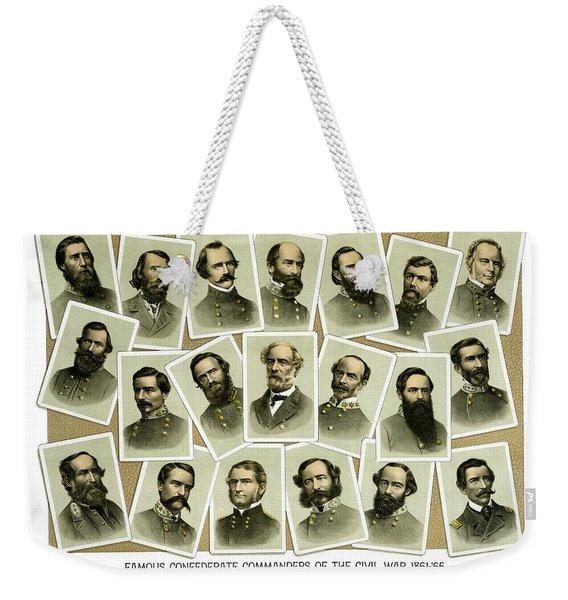 Confederate Commanders Of The Civil War Weekender Tote Bag