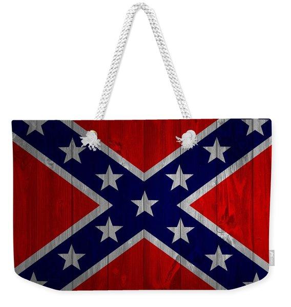 Confederate Flag Barn Door Weekender Tote Bag