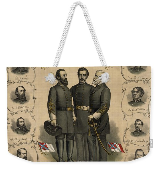Confederate Generals Of The Civil War Weekender Tote Bag